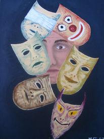 Gesicht, Maske, Malerei, Surreal