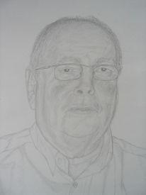 Mann, Portrait, Bleistiftzeichnung, Zeichnung