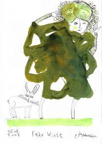 Grün, Zeichnung, Petrus, Wiese