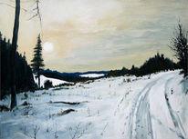 Malerei, Schnee, Eifel