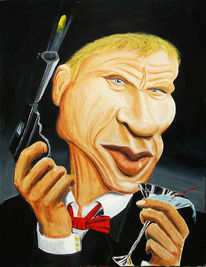 Figural, Karikatur, Malerei, 007