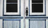 Tür, Malerei, Haustür, Stillleben