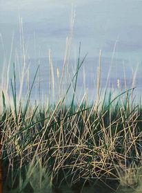 Stille, Malerei, Stillleben, Gras