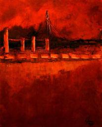 Abstrakt, Malerei, Skyline