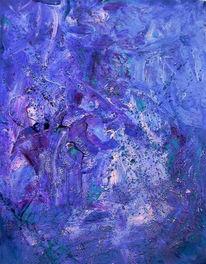 Malerei, Abstrakt, Flut