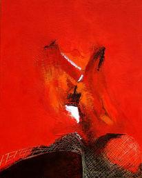 Malerei, Abstrakt, Netzwerk