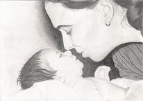 Mutter, Baby, Leben, Kind