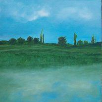 Bourgogne, Ölmalerei, Frankreich, Landschaft