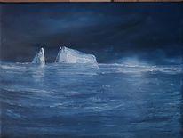 Eisberg, Spitzbergen, Kalt, Blau