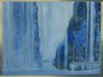 Blau, Wasser, Wasserfall, Blumen