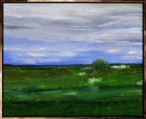 Landschaft, Grün, Himmel, Blumen