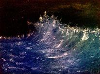 Gischt, Welle, Wild, Meer