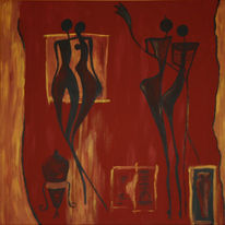 Figural, Mann, Rot schwarz, Krug