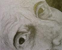 Zeichnung, Falten, Frau, Portrait