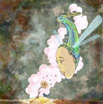 Treffen, Malerei, Surreal, Liebe