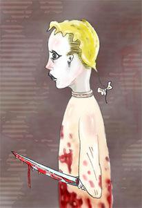 Tod, Blut, Malerei, Mörder
