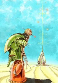Zukunft, Gefahr, Signal, Wüste