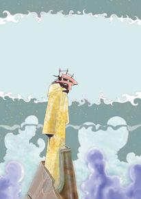 Wolken, Fantasie, Science fiction, Malerei