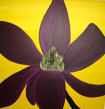 Gelb, Lila, Acrylmalerei, Blumen