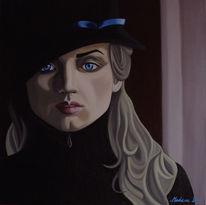 Einsamkeit, Dunkel, Malerei, Figural