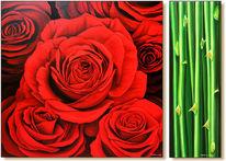 Wandmalerei, Rose, Realismus, Blumen