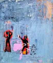 Malerei, Abstrakt, Mädchen