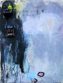 Mischtechnik, Abstrakt, Assemblage, Malerei