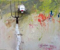 Assemblage, Abstrakt, Mond, Kind