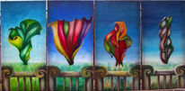Jahreszeiten, Malerei, Abstrakt, Fruchtkörper