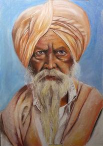 Delhi, Indien, Sikh, Tempel