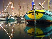 Schiff, Boot, Spiegelung, Segel