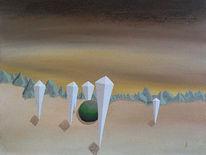 Malerei, Acrylmalerei, Surreal, Schreck