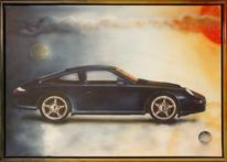 Acrylmalerei, Custompainting, Airbrush, Porsche