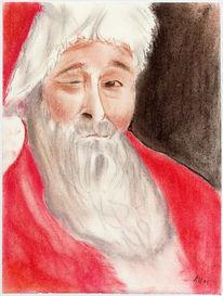 Weihnachtsmann, Weihnachten, Malerei, Navidad