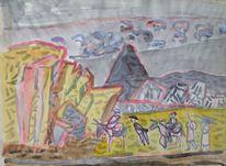 Spanien, Mutter ey, Malerei, Mediterrane landschaft