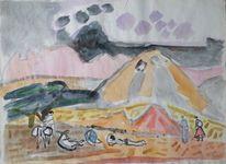 Lagernde, Malerei, Spanien, Lager