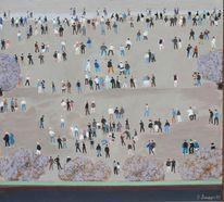 Menschen, 1973, Gemälde, Malerei