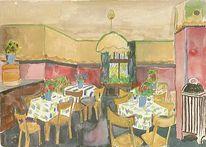 Berlin, Speiseraum, Expressionismus, Impressionismus
