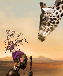 Digital art, Afrika, Traum, Sommer