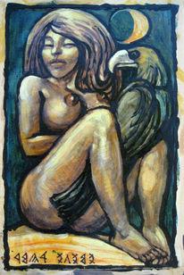 Akt, Temperamalerei, Ungarisch, Malerei