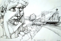 Grafik, Carrara, Tusche, Illustration