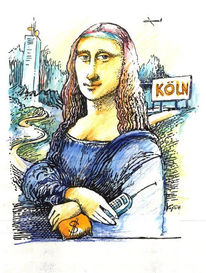 Köln, Mona lisa, Handy, Grafik