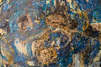 Abstrakt, Traum, Blau, Acrylmalerei