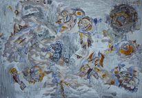 Acrylmalerei, Abstrakt, Karton, Malerei