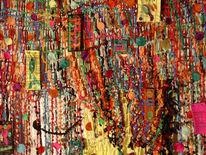 Seide, Wandobjekt, Knoten, Farben