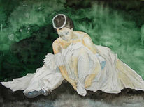 Aquarellmalerei, Ballett, Tanz, Malerei