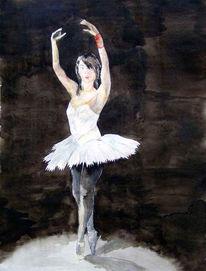 Aquarellmalerei, Tanz, Ballett, Malerei