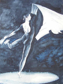 Tanz, Aquarellmalerei, Balett, Malerei