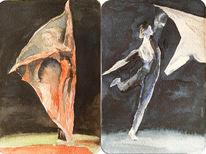 Balett, Skizze, Tanz, Aquarellmalerei