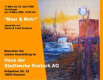 Aquarellmalerei, Ausstellung, Rostock, Pinnwand